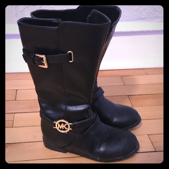 Toddler Girls Black Boots Size 12